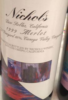 Nichols Paso Robles Merlot