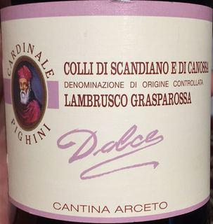 Cantina Arceto Lambrusco Grasparossa Dolce(カンティーナ・アルチェート ランブルスコ・グラスパロッサ ドルチェ)
