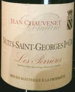 Dom. Jean Chauvenet Nuits Saint Georges 1er Cru Les Perrieres