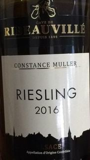 Cave de Ribeauville Riesling Constance Muller(カーヴ・ド・リボーヴィレ リースリング)