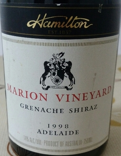 Richard Hamilton Marion Vineyard Grenache Shiraz