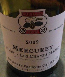 Jacques et Francois Carillon Mercurey 1er Cru Les Champs Martin