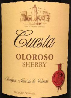 Cuesta Oloroso Sherry(ケスタ オロロソ シェリー)