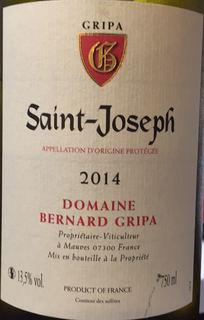 Dom. Bernard Gripa Saint Joseph Blanc(ドメーヌ・ベルナール・グリパ サン・ジョセフ ブラン)