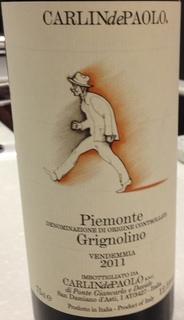 Carlin de Paolo Piemonte Grignolino