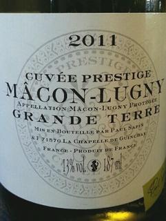 Paul Sapin Mâcon Lugny Cuvée Prestige Grand Terre