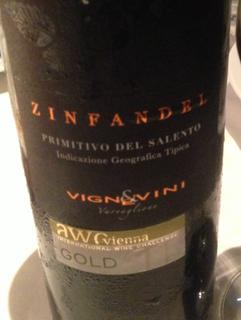 Vigne & Vini Zinfandel Primitivo del Salento