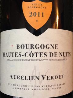 Aurélien Verdet Bourgogne Hautes Côtes de Nuits Rouge