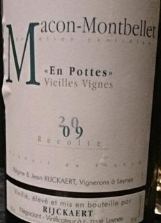 Jean Rijckaert Mâcon Montbellet En Pottes Vieilles Vignes