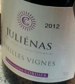 Christophe Cordier Juliènas Vieilles Vignes