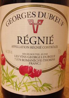 Georges Duboeuf Régnié