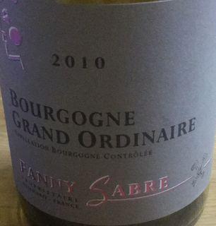 Fanny Sabre Bourgogne Grand Ordinaire