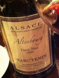 Marc Tempé Pinot Noir Altenbourg