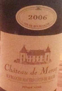 Ch. de Mercey Bourgogne Hautes Côtes de Beaune(シャトー・ド・メルセー ブルゴーニュ・オート・コート・ド・ボーヌ)