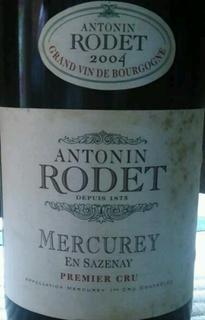 Antonin Rodet Mercurey 1er Cru En Sazenay