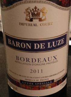 Baron de Luze Imperial Court Cuvée Spéciale Rouge