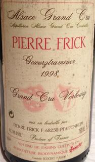 Pierre Frick Gewürztraminer Grand Cru Vorbourg