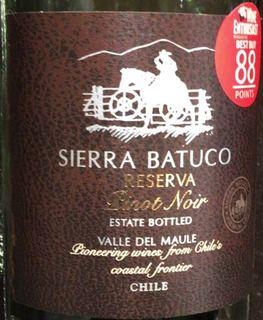 Sierra Batuco Reserva Pinot Noir
