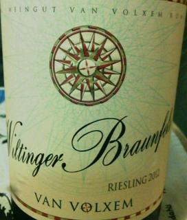 Van Volxem Wiltinger Braunfels Riesling