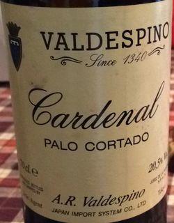 Valdespino Cardenal Palo Cortado