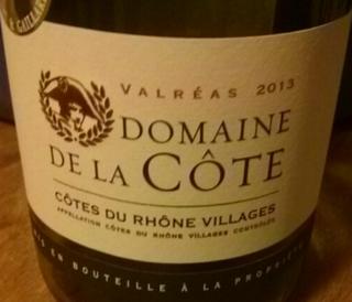 Dom. de la Côte Côtes du Rhône Villages Valréas