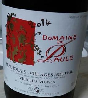 Dom. de Paule Beaujolais Villages Nouveau Vieilles Vignes