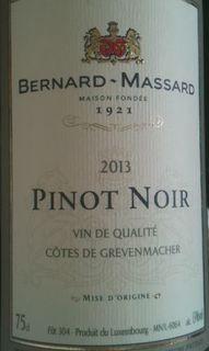 Bernard Massard Pinot Noir(ベルナール・マッサール ピノ・ノワール)