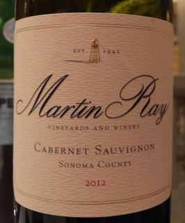 Martin Ray Cabernet Sauvignon Sonoma County(マーティン・レイ カベルネ・ソーヴィニヨン ソノマ・カウンティ)