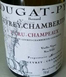 Bernard Dugat Py Gevrey Chambertin 1er Cru Champeaux