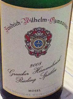 Friedrich Wilhelm Gymnasium Graacher Himmelreich Riesling Spätlese