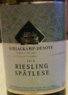 Schlagkamp Desoye Riesling Spätlese
