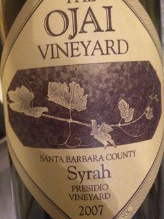 The Ojai Vineyard Syrah Presidio Vineyard