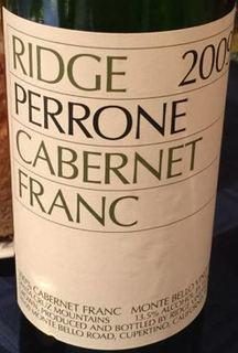 Ridge Perrone Cabernet Franc 2009