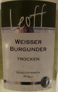 Leoff Weisser Burgunder Trocken