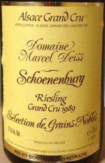 Marcel Deiss Schoenenbourg Riesling Sélection de Grains Nobles