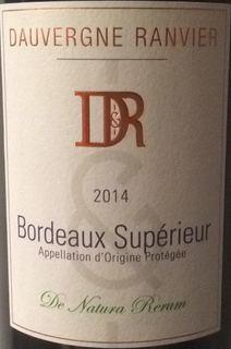 Dauvergne Ranvier Bordeaux Supérieur De Natura Rerum
