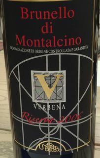 Verbena Brunello di Montalcino Riserva(ヴェルベーナ ブルネッロ・ディ・モンタルチーノ リゼルヴァ)