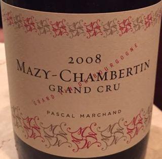 Pascal Marchand Mazy Chambertin Grand Cru