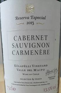 Tesco Finest Reserva Especial Kulapelli Vineyard Cabernet Sauvignon Carmenere