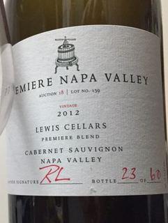 Premiere Napa Valley Lewis Cellars Premiere Blend Cabernet Sauvignon