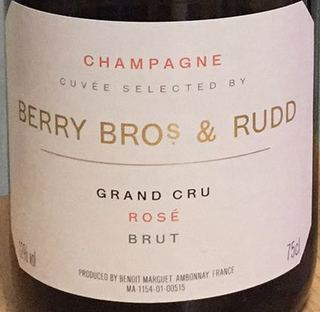 Cuvée Selected By Berry Bros. & Rudd Champagne Grand Cru Brut Rose