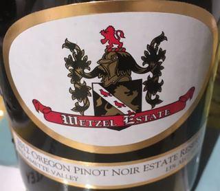 Wetzel Estate Reserve Pinot Noir