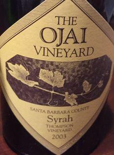 The Ojai Vineyard Syrah Thompson Vineyard