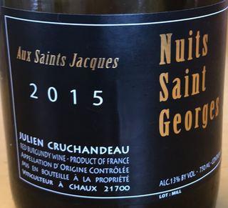 Dom. Julien Cruchandeau Nuits Saint Georges Aux Saints Jacques
