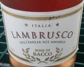 Rose di Bacco Lambrusco Rose(ロゼ・ディ・バッコ ランブルスコ ロゼ)