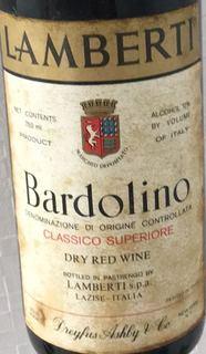 Lamberti Bardolino Classico Superiore(ランベルティ バルドリーノ クラッシコ・スペリオーレ)