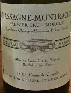 Ch. Masson Chassagne Montrachet 1er Cru Morgeot(シャトー・マッソン シャサーニュ・モンラッシェ プルミエ・クリュ モルジョ)