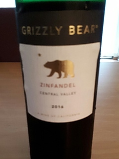 Grizzly Bear Zinfandel(グリズリー・ベアー ジンファンデル)