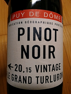 Le Grand Turluron Puy de Dôme Pinot Noir
