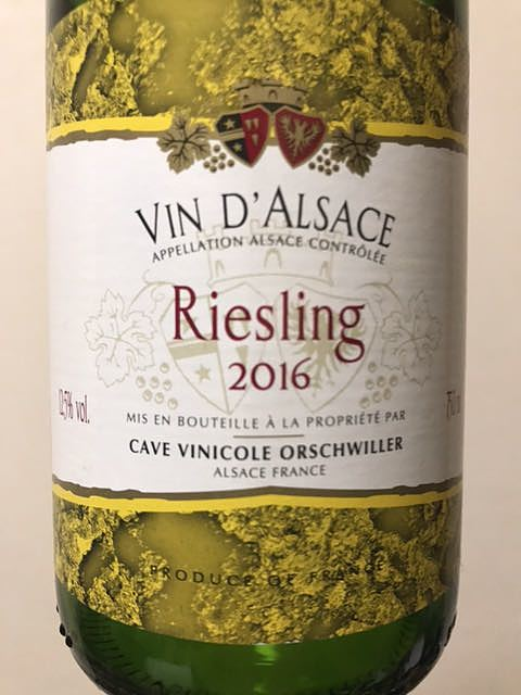 Cave Vinicole Orschwiller Riesling